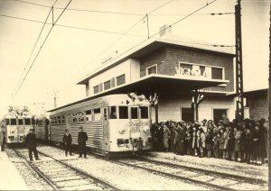 Figura 8 - I primi due convogli sono giunti in stazione a Vignola.