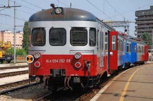 Figura 18 - Il Treno ALe 054 202 ER in stazione a Modena.