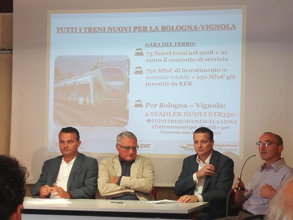 Nel corso dell'evento, spazio anche per il comitato utenti In Prima Classe per Bologna-Vignola. La parola al presidente Quartieri.