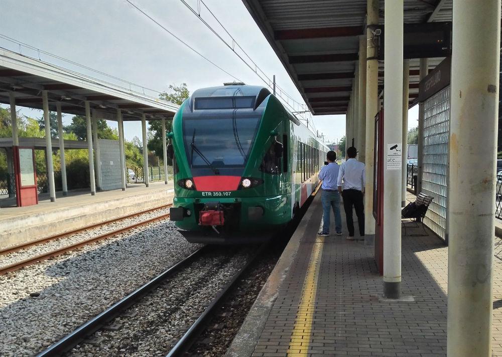 Uno dei quattro nuovi treni Stadler ETR 350 in servizio sulla Bologna-Vignola.